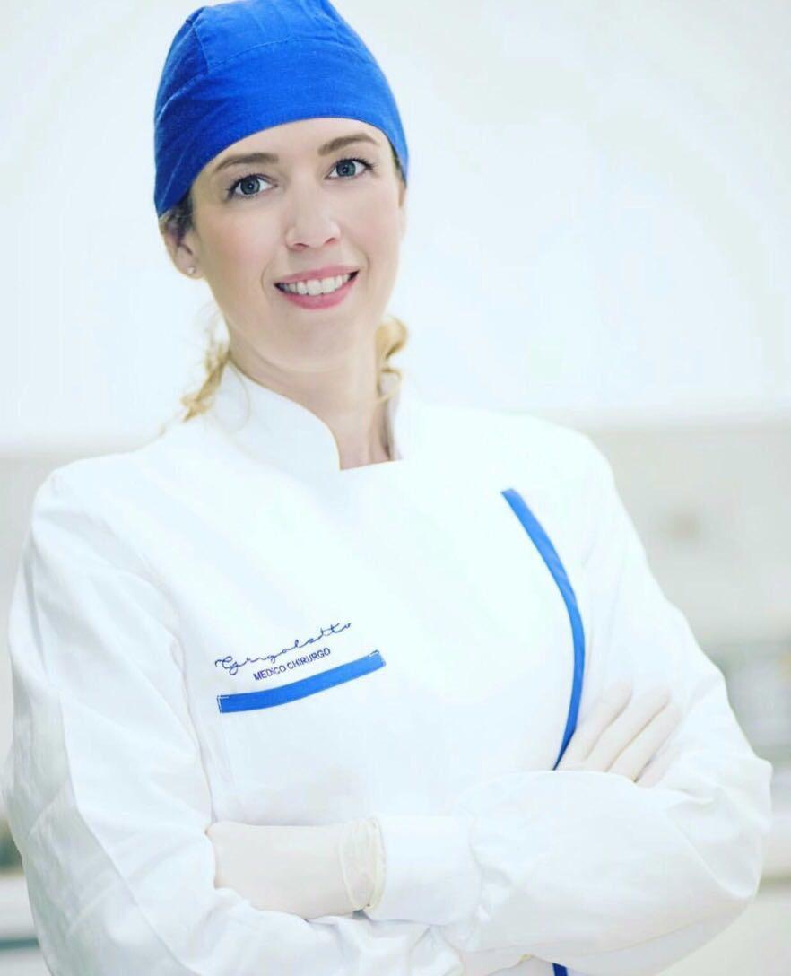 Dottoressa Francesca Grigoletto in camice da lavoro