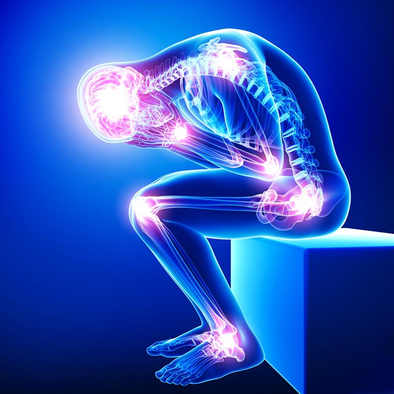 Dolore, impaccio, mancanza di forza, nausea corrispondono ad un punto doloroso di infiammazione nei tessuti molli